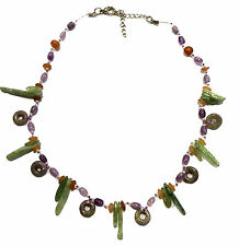 Gemstone Necklace Mix Amethyst Peridot Agate Beaded Thailand Fair Trade Ladies