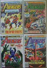 Avengers #206,#208-210 Marvel Comics (4) Comic Run 1981 Avg VF Iron Man Thor +