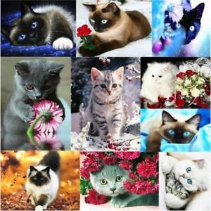 5D Diamond Painting Embroidery Cross Craft Stitch Art Kits Home Decor Cute Cat
