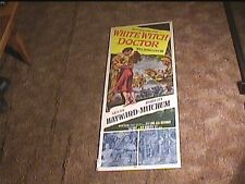 WHITE WITCH DOCTOR 1953 INSERT 14X36 MOVIE POSTER ROBERT MITCHUM SUSAN HAYWARD