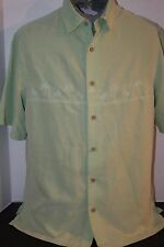 Paradise Collection by Tommy Bahama Men's (M) Green S/S Island Camp Shirt
