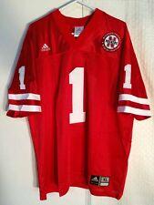 Adidas Premier NCAA Jersey  Nebraska Huskers #1 Red Throwback sz XL