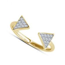 0.31CT Naturel Diamant 14K Solide or Jaune Jouet Taille Bague