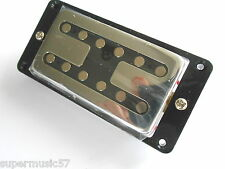 Chrome Guitar H Toaster Bridge Humbucker Pickup with Black Surround & All Screws