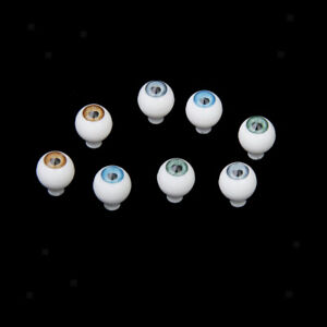 MagiDeal 4 Pairs Round Acrylic Doll Eyes Eyeballs 8mm Multicolor Accessories