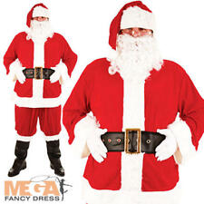 Deluxe Santa Claus Father Christmas Fancy Dress Costume Mens Adult Outfit + More
