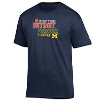 Champion MLB/NCAA Combo Michigan Wolverines/DetroitTigers Forever Men's T-Shirt