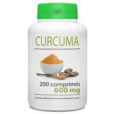Curcuma 600 mg - 200 comprimés - Planète au Naturel