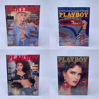 Lot of 4 Playboy Magazines Sept Oct Nov Dec 1986 Vintage Ads