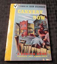 1947 CANNERY ROW by John Steinbeck PB FN- Bantam 3rd Ed. #75