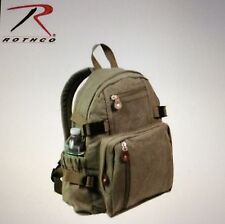 Canvas mini backpack vintage style survival tactical militaryemergency Rothco OD