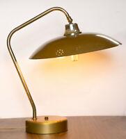 MCM Desk Lamp Vintage Flying Saucer Brass Mid Century Modern 1950s Lighting