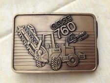 CASE Construction 760 Trencher Brass Belt Buckle 1985 Tractor Limited Edition