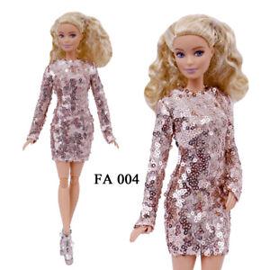"ELENPRIV FA004 Powder sequined mini dress for Barbie Pivotal MTM 12"" dolls"