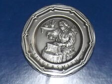 Vintage Franklin Mint Silversmith Colonial Craftsman Pewter Plate Miniature