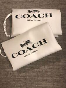 "❤️ 2 New Coach 16""x13""Drawstring Dust Bag Black /White"