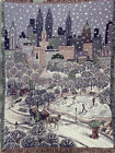 Vintage Chatham  New York City Winter Carriage Ride Throw Tapestry 50 By 67