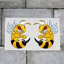 2 x Angry Hornet - Bee - Wasp Stickers - Scrapbooking - iPad - MacBook - 5585