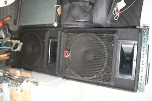 "Wharfdale Pro Acive 15"" speakers"
