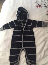 Baby Gap Boy Baby 3-6 M Pj One Piece Sweater Romper With Hoodie
