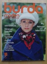 Burda Moden 10/71 MIEDER PELZ Karos PATCH WEIHNACHTEN Häkel-Poncho Rez. 70er J.
