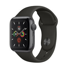 Apple Watch Series 5 32GB space gray Alu cas 40mm black sport band Nuovo