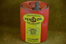 PENNZOIL VINTAGE MOTOR OIL CAN GAS STATION SERVICE STATION MEMORABILIA