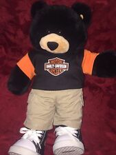 Harley Davidson Motorcycles Teddy Brown Bear Plush Stuffed Toy 17 in High BABW