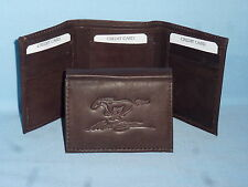 FORD MUSTANG    Leather TriFold Wallet    NEW    dkbr 3  m1