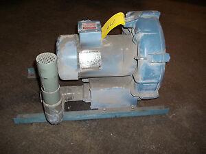 2 HP EG&G Rotron Blower DB505AS72 Blower / Suction / Pressure 3 Phase