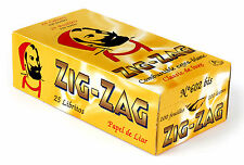 1 box ZIG ZAG Yellow Double size Classic Rolling paper - total 2500 papers