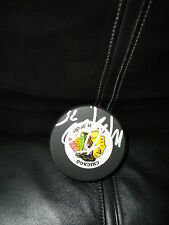 NHL CHICAGO BLACK HAWKS MARTY TURCO SIGNED HOCKEY PUCK  + PUCK CUBE