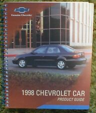 1998 Chevrolet Data Book 98 Camaro Malibu Monte Carlo