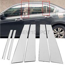 Car Door Stainless Steel Pillar Post Chrome For Honda Accord 4 Door 2008-2012 ND