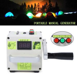 Tragbar USB Handkurbel Ladegerät Stromerzeuger Stromgenerator Manuelle Generator