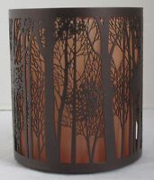Yankee Candle Votive Holder V/H TWILIGHT FOREST SILHOUETTE Orange Brown Fall