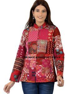 Hippy Boho Vintage Patchwork Cotton Reversible Coat Jacket Top HANDMADE Jacket