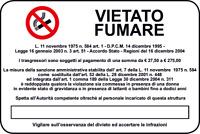 ADESIVO Cartello segnaletica VIETATO FUMARE 300x200 mm