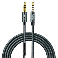 HOCO Audio AUX Cable With Microphone TPE + Nylon 3.5mm Jack Male to Male Cable