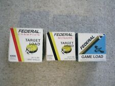 Lot Of 3 Empty Vintage Federal Shotgun Ammo Boxes Made In Usa