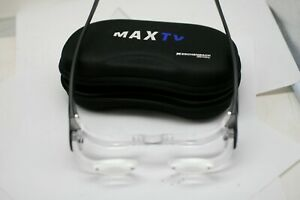 Eschenbach maxTV low vision aid- used with case eye glasses- 2.1x B1