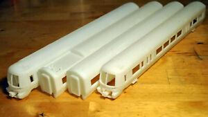 Class 332/333 4-car Bodyshell Set by CMAC Model Railways