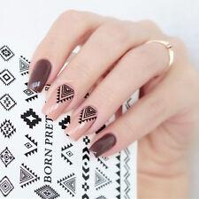 2 Sheets BORN PRETTY Nail Art Water Decals Rhinestone Shape Transfer Stickers