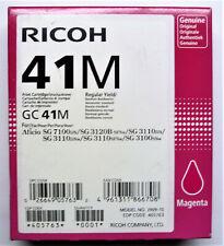 Ricoh Gc 41 M Magenta Aficio Sg 3100 Sg 3110 Sg 3120 Sg 7100 Boxed 12/2017