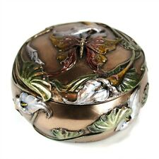 BUTTERFLY JEWELRY AND TRINKET BOX Lid Art Nouveau HIGH QUALITY Bronze Resin NEW
