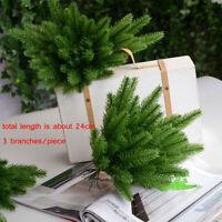 5st Kiefer Nadel Branch Künstlich Pflanzen Girlande Weihnachten Party Home Dekor