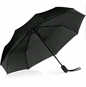 Repel Travel Umbrella with Teflon Coating (Black) Slip Proof Handle