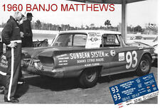 CD_682 #93 Banjo Matthews  1960 Thunderbird    1:32 scale decals