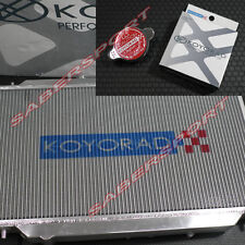Koyo Aluminum Racing Radiator + Cap for 1998-2000.8 Nissan R34 Skyline GT-R M/T