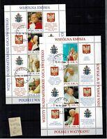 Briefmarken Polen 4109-4116 gestempelt 2 Klbg Papst Johannes Paul II.
